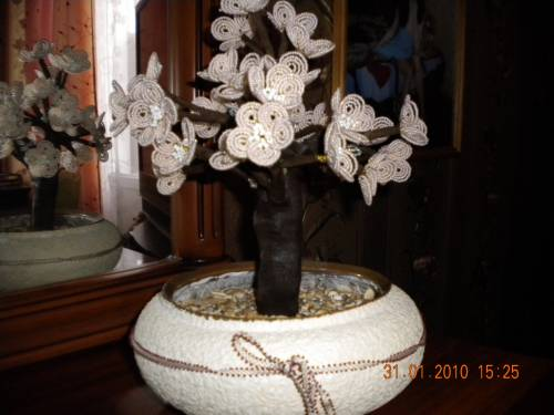 персиковое дерево из бисера - Сайт о бисере.